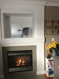 Fireplace painted with Annie Sloan Chalk Paint